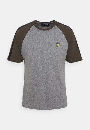 COLOUR BLOCK - T-shirt - bas - mid grey marl