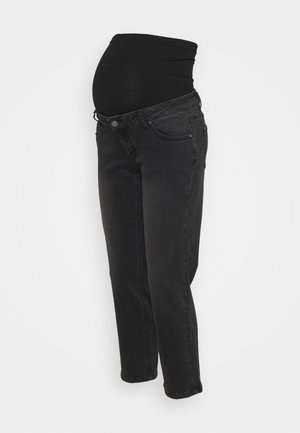 STRAIGHT LEG CROP - Džíny Straight Fit - black
