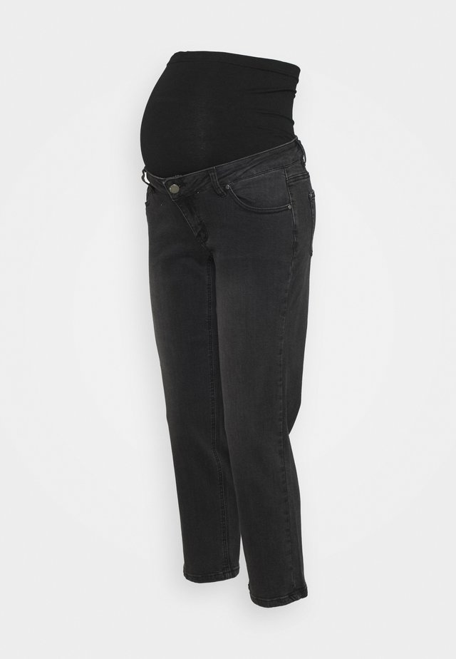 STRAIGHT LEG CROP - Vaqueros rectos - black