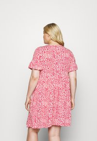 Simply Be - FRILL SLEEVE SMOCK DRESS - Jersey dress - pink - 2