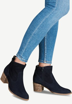 TAMARIS STIEFELETTE - Classic ankle boots - navy