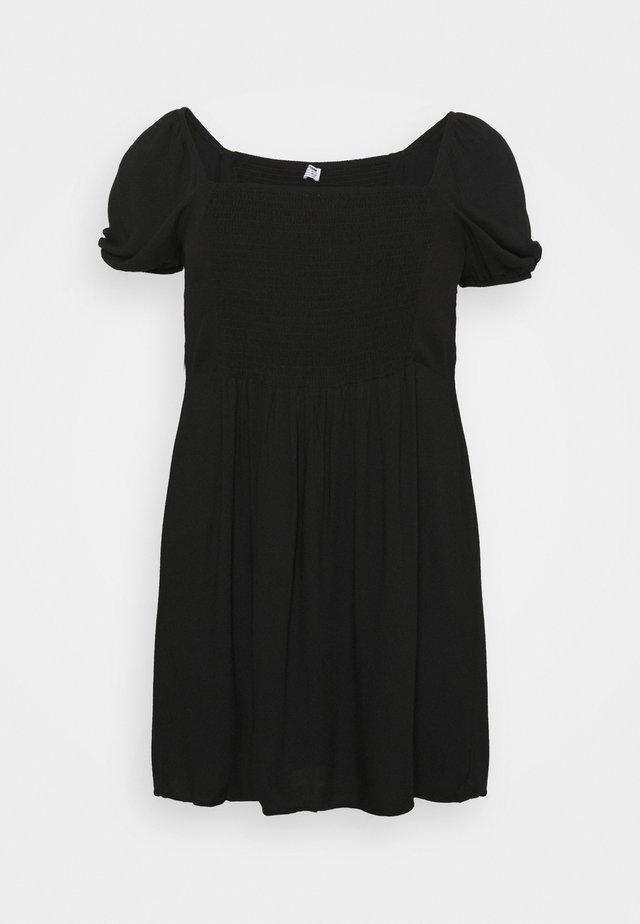 LEONA BELL SLEEVE MINI DRESS - Hverdagskjoler - black