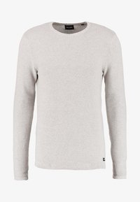 Only & Sons - ONSDAN STRUCTURE CREW NECK  - Strikpullover /Striktrøjer - light grey melange - 5