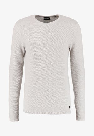ONSDAN STRUCTURE CREW NECK  - Strikkegenser - light grey melange