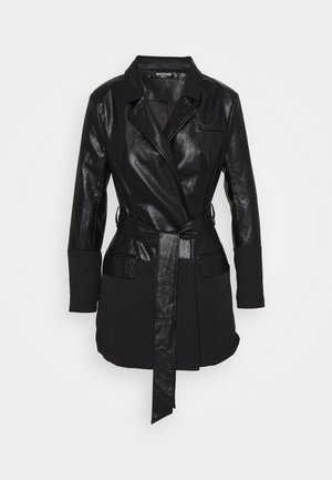 BELTED BLAZER DRESS - Shift dress - black