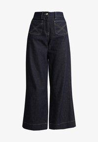 NORR - LUCAS WIDE LEG - Flared jeans - dark blue - 5