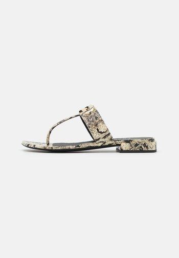 CHAIN THONG  - T-bar sandals - light grey