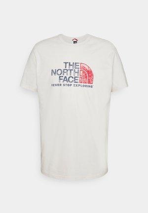 RUST TEE  - Print T-shirt - vintage white
