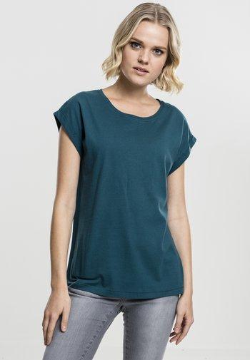 EXTENDED SHOULDER TEE - Basic T-shirt - teal