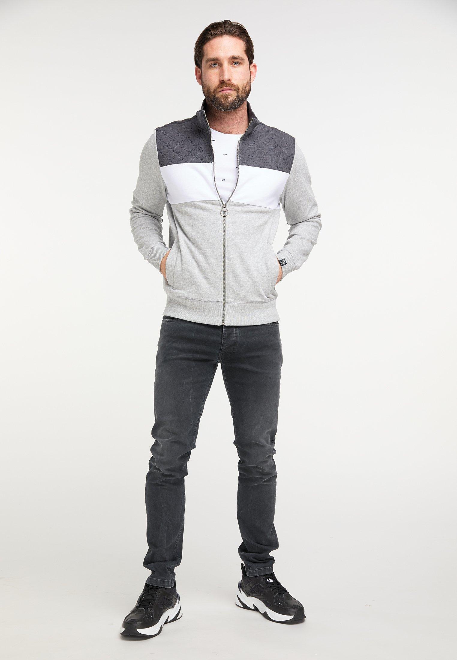 Petrol Industries veste en sweat zippée - light grey