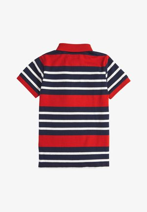 RED/NAVY STRIPE POLO SHIRT (3-16YRS) - Polotričko - red
