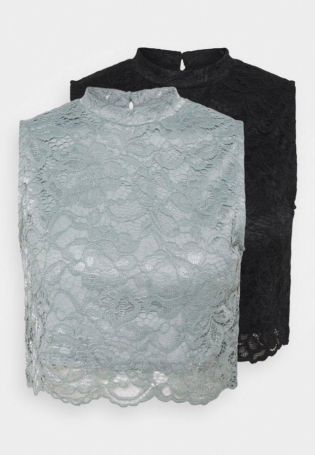 2 PACK - Top - black/grey