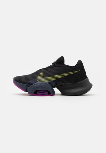 AIR ZOOM SUPERREP 2 - Sports shoes - black/cyber/red plum/sapphire