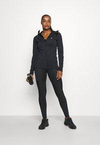 Peak Performance - RIDER ZIP HOOD - Fleece jacket - black - 1