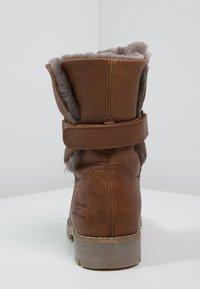 Panama Jack - FELIA IGLOO - Cowboy/biker ankle boot - cognac - 3