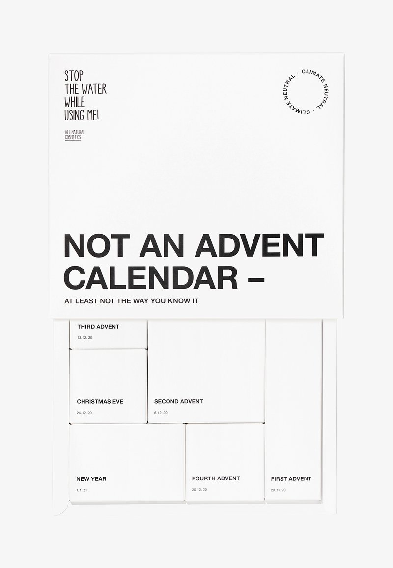 STOP THE WATER WHILE USING ME! - ALL NATURAL NO ADVENT CALENDER - Adventskalender - black,white