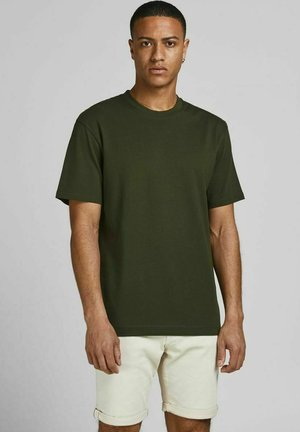 JJERELAXED TEE O-NECK - Basic T-shirt - forest night