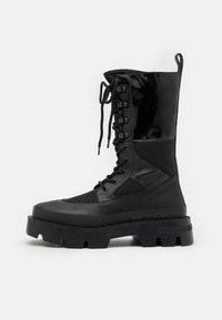 MISBHV - LACE UP COMBAT BOOT - Lace-up boots - black - 0