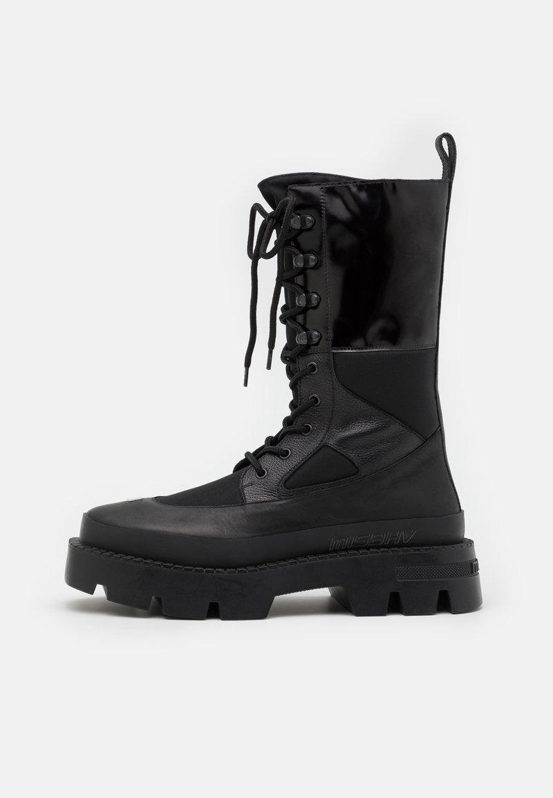 MISBHV - LACE UP COMBAT BOOT - Lace-up boots - black