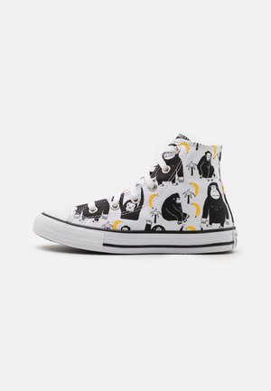 CHUCK TAYLOR ALL STAR JUNGLE FUN UNISEX - Korkeavartiset tennarit - white/black/yellow