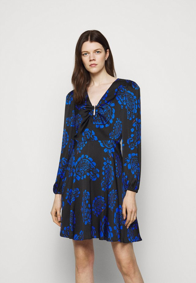 TOSSED PAISLEY DRESS - Cocktail dress / Party dress - black/azure