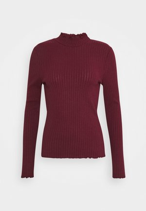 NMBERRY HIGH NECK  - Jumper - zinfandel