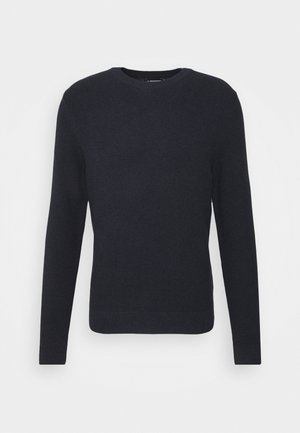ANDY STRUCTURE C-NECK - Jumper - navy