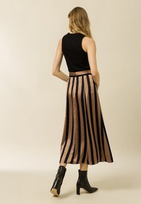 IVY & OAK - A-line skirt - dark toffee - 2
