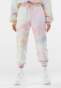 Bershka - Teplákové kalhoty - pink - 0