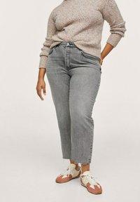 Mango - Straight leg jeans - grijs denim - 0