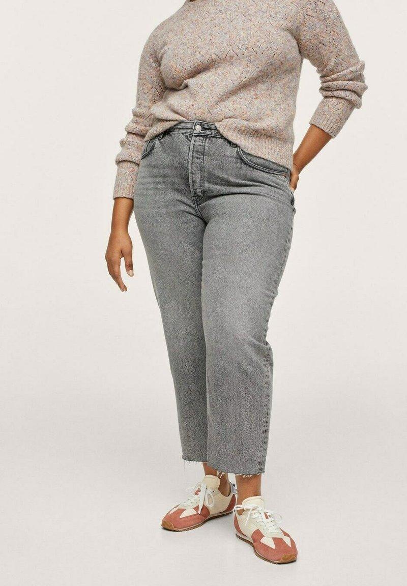 Mango - Straight leg jeans - grijs denim
