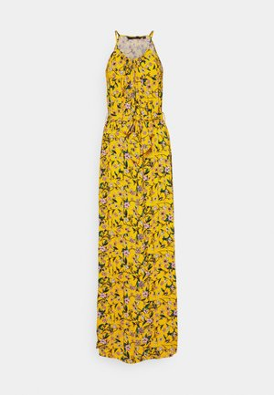 VMSIMPLY  EASY SLIT DRESS - Maxi dress - saffron/lotte