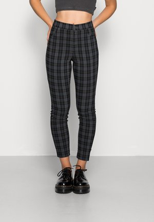 HOL PLAID SUPERSKINNY - Trousers - green