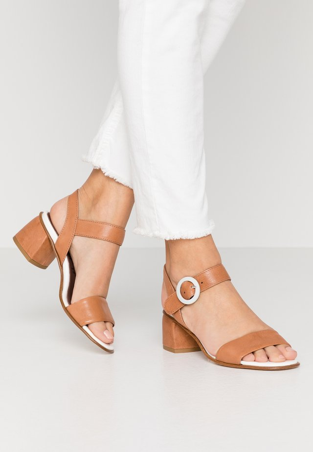 TERRY - Sandals - cognac