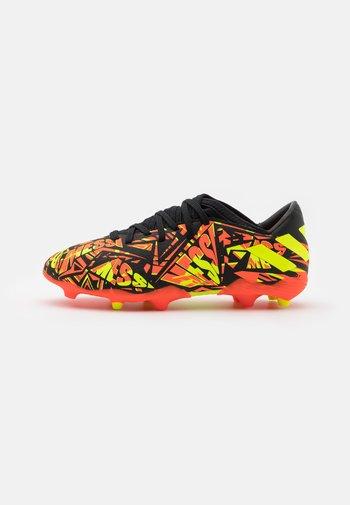 NEMEZIZ MESSI .3 FG UNISEX - Moulded stud football boots - solar red/solar yellow/core black