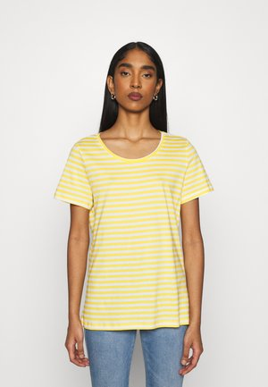 VISUS  - Basic T-shirt - spicy mustard/optical snow