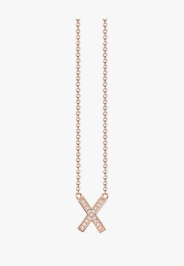 Halskæder - rosegold-coloured/white