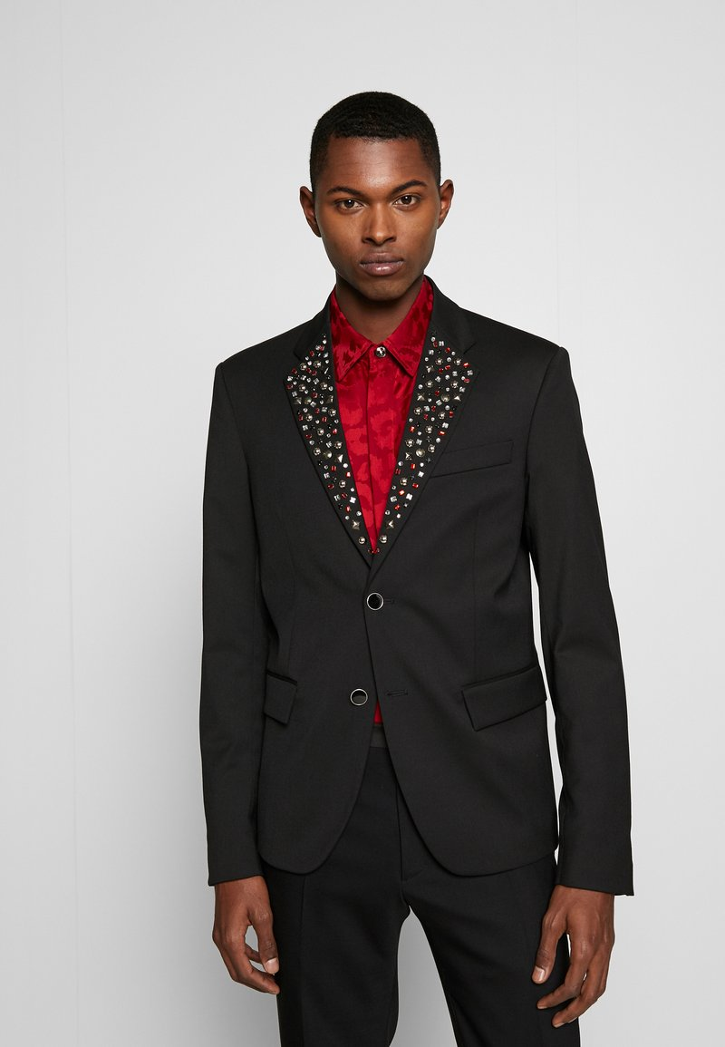 Just Cavalli - EMBELLISHED JACKET - Suit jacket - black