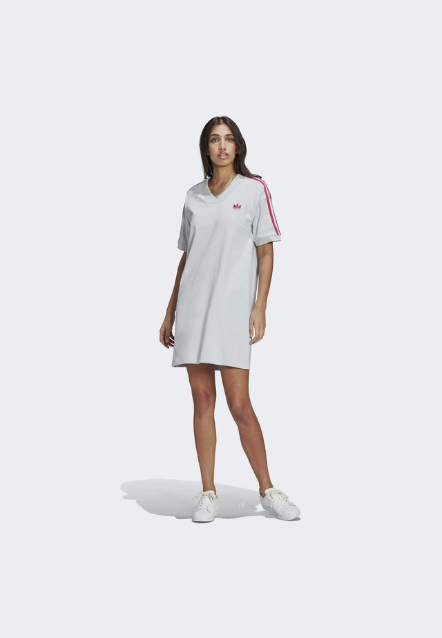 3D TREFOIL TEE DRESS - Jerseyjurk - blue