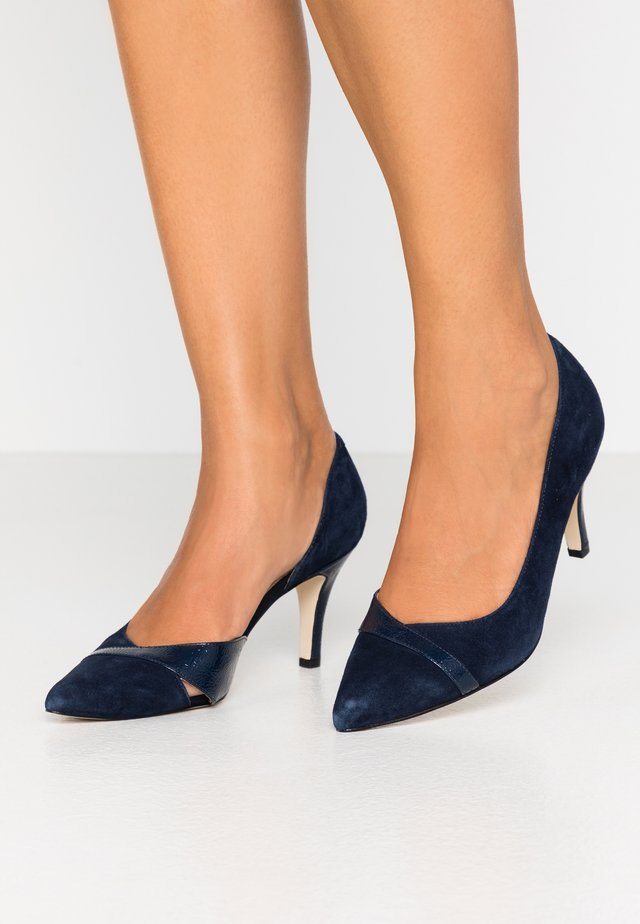 LEATHER CLASSIC HEELS - Decolleté - dark blue
