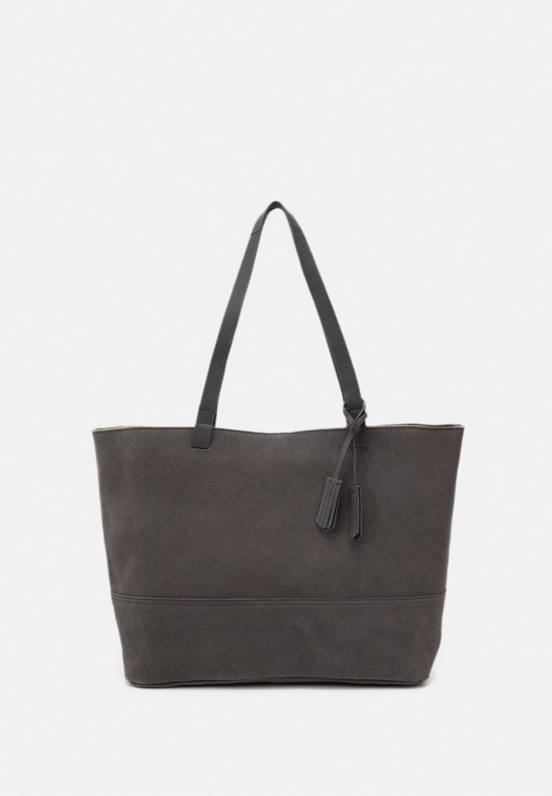 Zign - LEATHER - Tote bag - anthracite