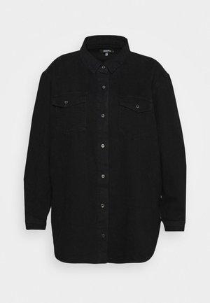 BOYFRIEND FIT OVERSIZED SHIRT - Button-down blouse - black