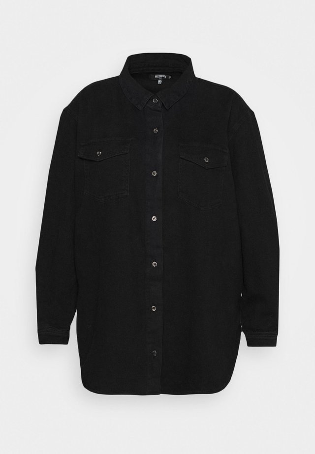 BOYFRIEND FIT OVERSIZED SHIRT - Camicia - black