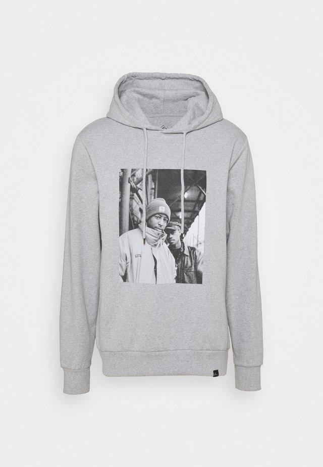 GANG STARR HOODIE - Hoodie - melange grey