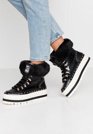 HARVYN - Platform ankle boots - black