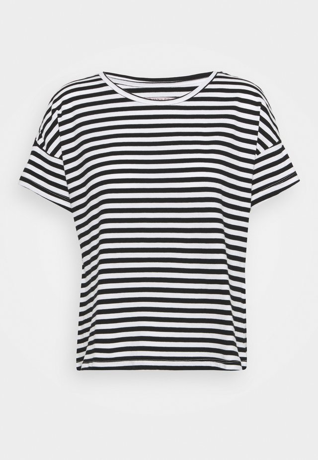 T-shirt print - black/white