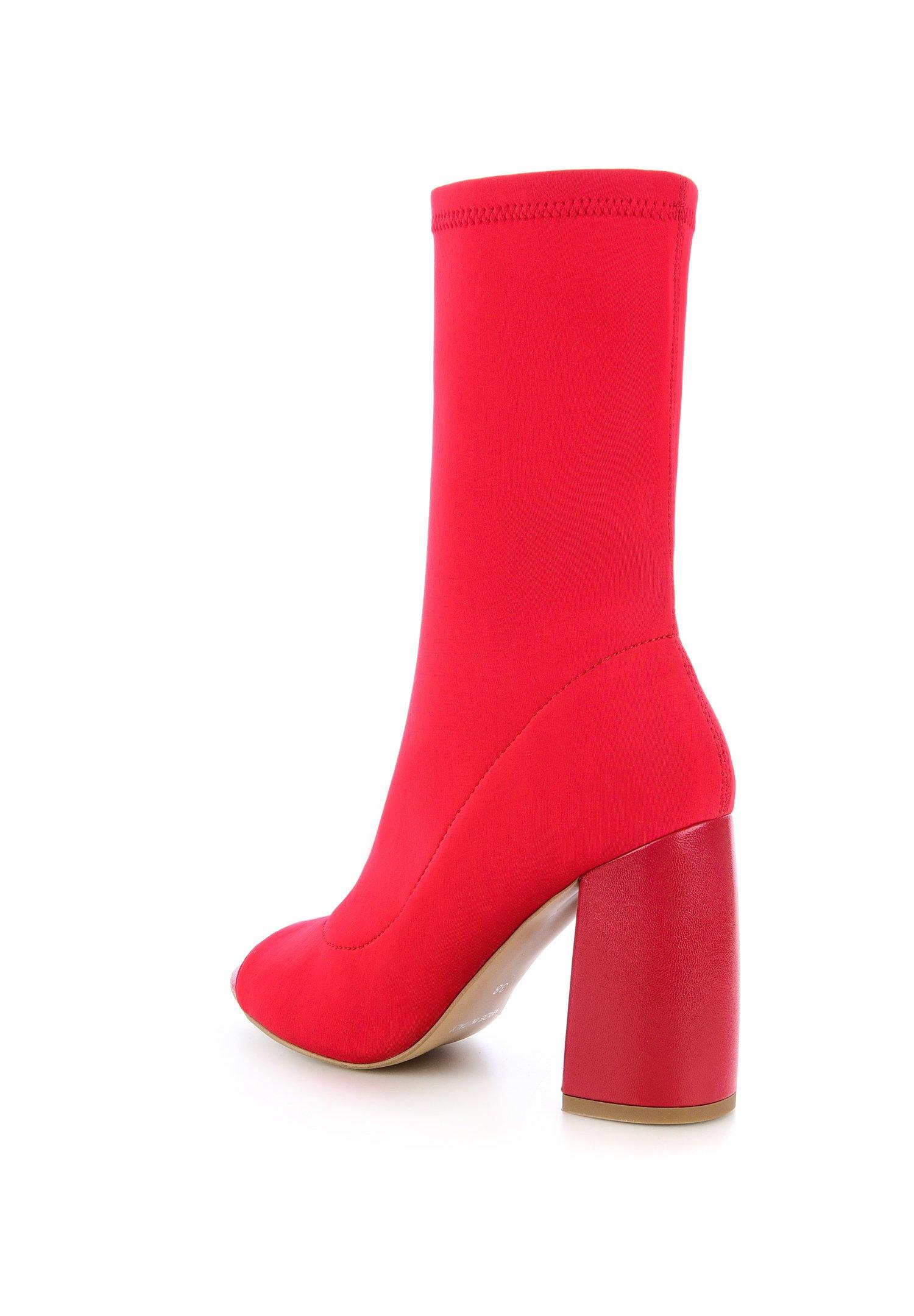Prima Moda Quarde - Enkellaarsjes Met Hoge Hak Rot