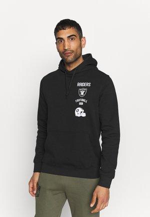 NFL LAS VEGAS RAIDERS PROPERTY OF GRAPHIC OVERHEAD HOODIE - Sweatshirt - black