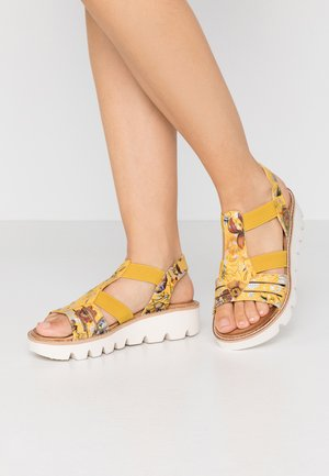 Platform sandals - yellow/multicolor