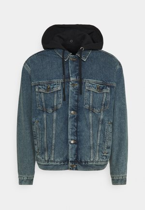 LEWIS HAMILTON UNISEX OVERSIZED HOODED - Denim jacket - indigo denim